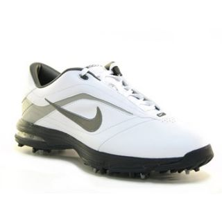 Mens Nike Air Academy Golf Shoes 379224 191 White Gunmetal Metallic