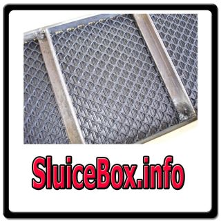 Sluice Box info GOLD PROSPECTING MINING EQUIPMENT ORE PANNING WEB