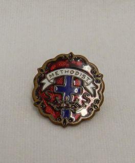 Methodist Sunday School Church Gold Plated Hat Lapel Pin Tac