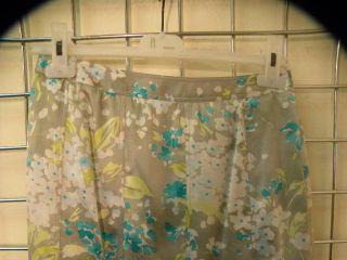 Gerard DAREL Watercolor Floral Print Silk Skirt 38 4