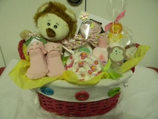 Jungle/Lion/Monkey theme baby GIFT BASKET, baby shower present