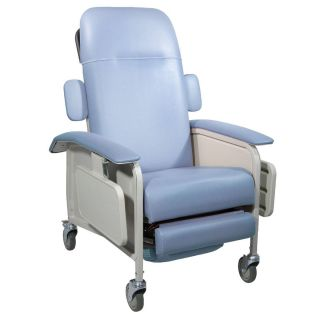 Drive Medical 4 Position Geri Chair Recliner Lift Chair 250LB Cap Blue