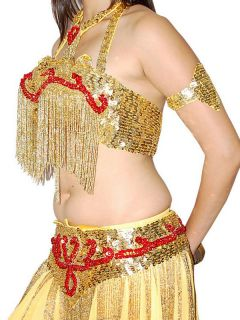 Gold Bollywood Fashion Good Looking Color Belly Dance Costume