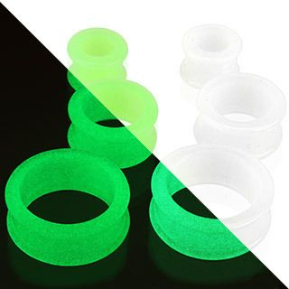 Glow in Dark Flared Ear Plugs Tunnel Body Piercing Jewelry