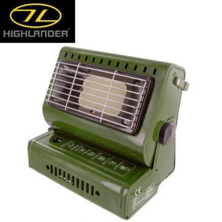 Highlander Compact Butane Gas Tent Bivvy Heater with Piezo Ignition