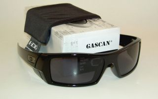 New Oakley GASCAN Sunglasses Polished Black Frame 03 471 Grey