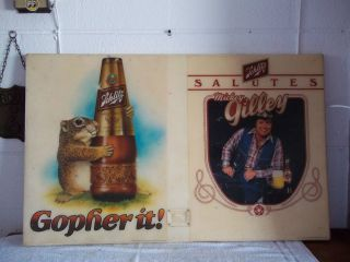 Vintage Shlitz Beer Salutes Mickey Gilley Advertisement Sign