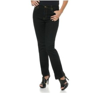 DG2 Diane Gilman Stretch Boot Cut Jeans with Concho Rivets Black Sz 2