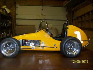 Gilmer 1 4 Scale Midget Race Car Yellow