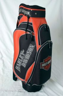 Licensed Harley Davidson Golf Cart Bag Bonus
