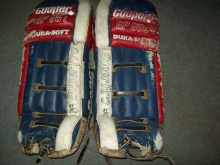 Vintage Cooper GP 95L Dura Soft Hockey Goalie Pads