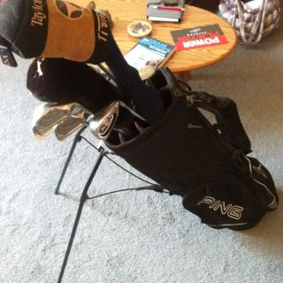 Golf Club Full Set W Stand Bag Callaway Spalding Taylor Cannon Head