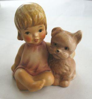 Genuine Goebel West Germany Child Toddler Dog Puppy Figurine 1050408
