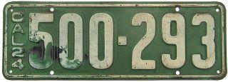 1924 California License Plate Gibby Alpca