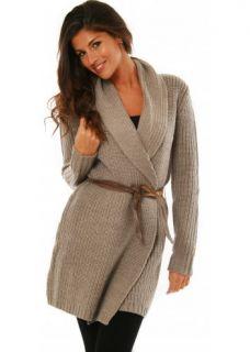 Emu Beige Gipsy Point Merino Wool Jacket Belted Cardigan XS s M L