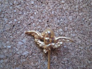 Angel Stick Pin Russian Gold Vintage Pin