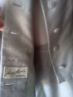 50s Vintage Winter Wool Grey Dress Suit Details M Mad Men Chic