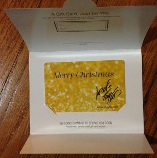 Lord and Taylor $50 Balance Christmas Gift Card
