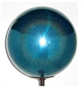 Ball 12 inch Turquoise Stardust Stainless Steel Gazing Globe