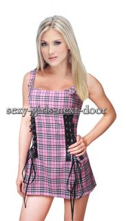 Sexy School Girl Fancy Dress Clubwear Costume Hot M