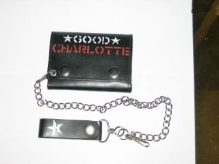 New Good Charlotte Leather Rock Roll Wallet with Chain
