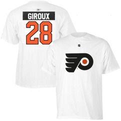 Philadelphia Flyers Claude Giroux White Jersey T Shirt Sz Medium