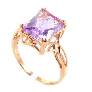 10K Rose Gold Amethyst Ring
