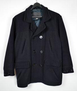 Men's New Republic Bergdorf Goodman Black Wool Peacoat XL