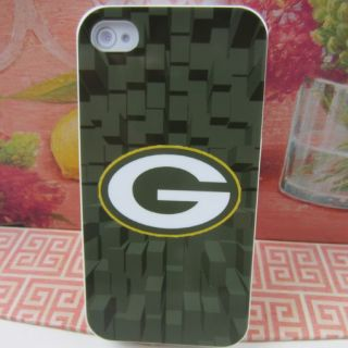 Green Bay Packers Rubber Silicone Skin Case Cover for Apple iPhone 4