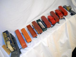 Vintage American Flyer Gilbert s Gauge Train Car Lot Box Freight Flat
