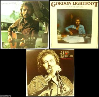 Choice of 3 Gordon Lightfoot Record Albums from 1970s and 1980s