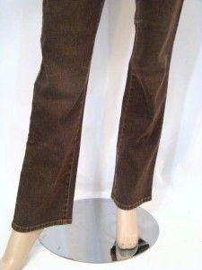 New Diane Gilman DG2 Brown Boot Cut Designer Denim Jeans 2 XS 31 5