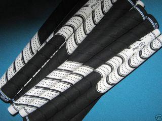 D2X Pride Jumbo White Black Multi Compound Golf Club Grips Set