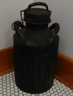 Antique 1900s Ellis & Sons Ellisco Metal Liquid 5 gallon Oil Gas Can
