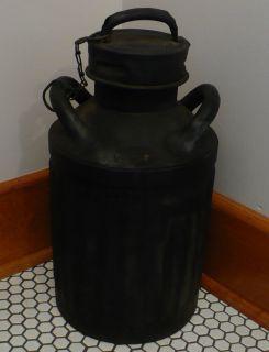 Antique 1900s Ellis & Sons Ellisco Metal Liquid 5 gallon Oil Gas Can