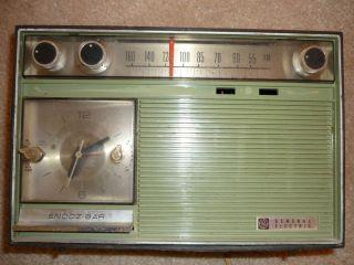 General Electric Am Clock Radio 1970s