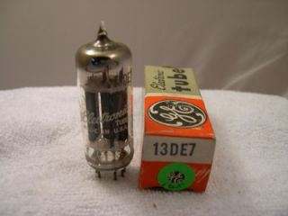 Electronic Vacuum Tube General Electric 13DE7 Black Plates