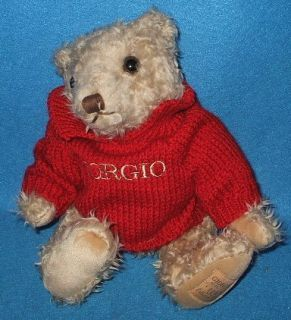 1995 Giorgio Beverly Hills Collector Stuffed Teddy Bear