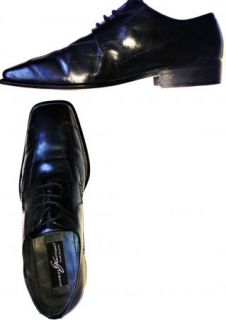 Giorgio Brutini Private Collection Black Dress Loafers Mens Shoes Size
