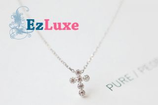 Hunter Girl Group Kara Goo Hara Cross Necklace 925 Silver ♥