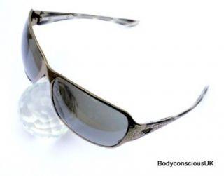 Womens Oakley Behave Sunglasses 05 315 Polished Black Chrome Warm Grey