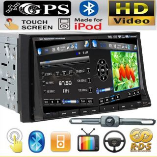 GPS MAP Camera Double 2 Din In Dash 7 Car Stereo DVD Player Radio Ipod
