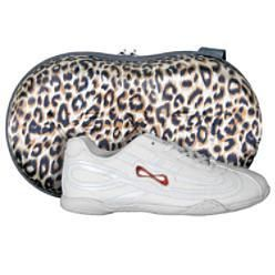 Nfinity Panther Cheerleading Shoes Size 12 Girls w Case New