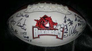2012 Arkansas Razorbacks Team Signed Football Certificate Proof