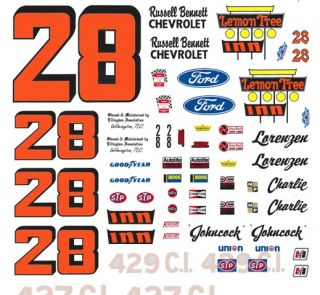 28 Lemon Tree Inn 1972 73 Chevy 1 32nd Scale Slot Car Decals