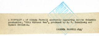 1943 Glenda Farrell Photograph Portrait George Hurrell City Without