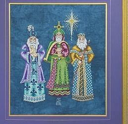 Nativity Cross Stitch Chart Glendon Place with Gifts for Jesus