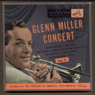 GLENN MILLER CONCERT RCA 45 Box Set Limehouse Blues Vilia Jeanie My