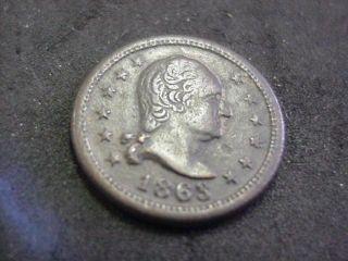 CWT Civil War Token George Washington Wilsons Medal Copper