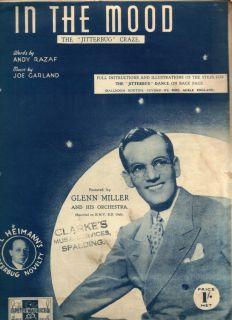 1939 in The Mood Glenn Miller Jitterbug Sheet Music